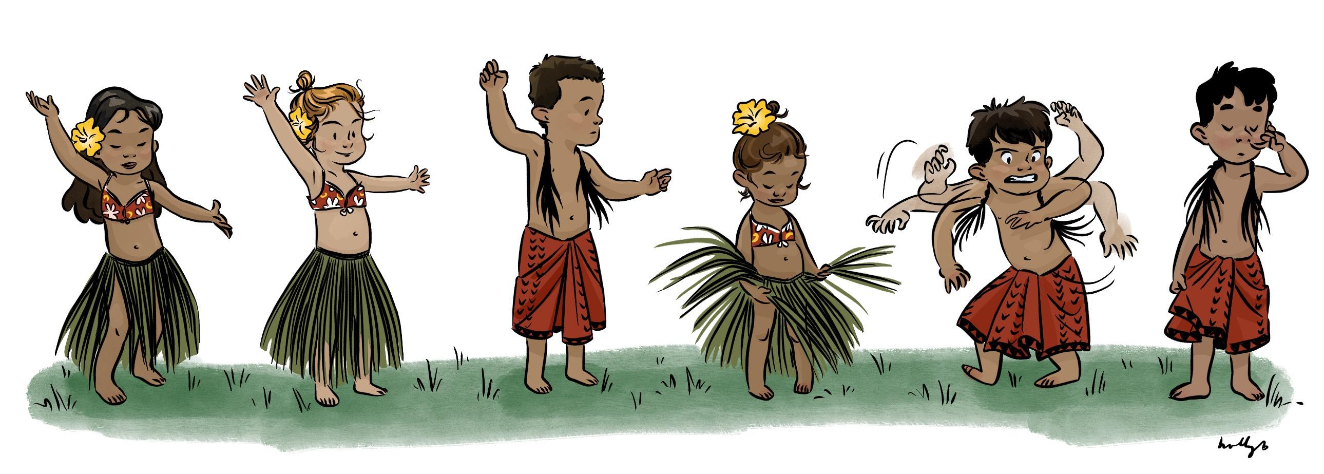 Keiki hula dancers