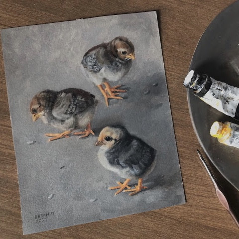 Painting of chicks